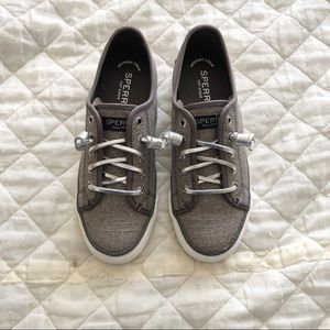 NIB Sperry Grey Seacoast Sneakers
